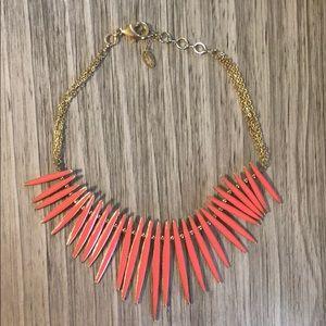 Fuchsia & Goldtone Reversible MOMA Necklace